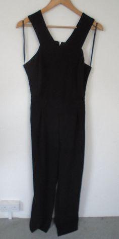 0f51c396e09 Primark Wide Leg Jumpsuit Size 14 16 Long Black Smart Work Office Leg 32