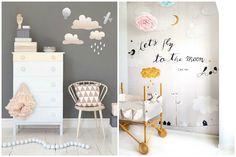 Crie uma decoração divertida nas paredes do quarto de criança com murais e adesivos!