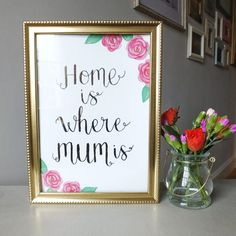 Christmas Gift for moms :)   Home Is Where Your Mum Is, Gift For Her, Gift For Mum, Birthday Gift For Mum, Christmas Gift For Mum, The Word Fair #christmas #mom #mum #gift #ad