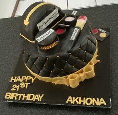 Makeup birthday cake from CakesbySthabile