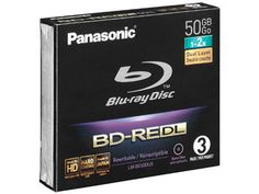 Panasonic LM-BE50DU3 - 50GB Rewritable Blu-ray Discs, 3 Pack - Overview