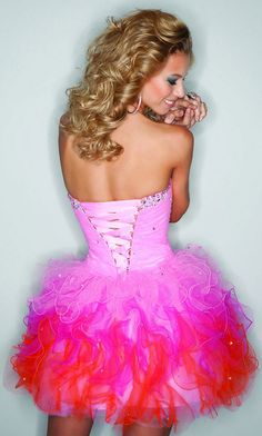 Strapless Short Party Dress by Mori Lee