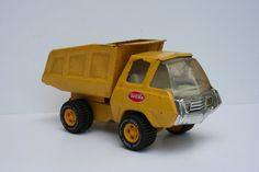 VIntage 1970 Metal Tonka Truck Mini Yellow Dump Truck