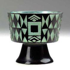Josef Hoffmann (1870-1956),  Johann Lötz Witwe, Etched Glass Vase, 1911.