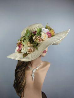 Woman Church Wedding Hat Head Piece by BridalWorldAccessory