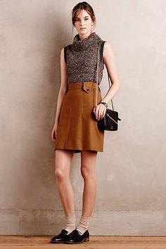 Felted Wool Mini Skirt - anthropologie.com