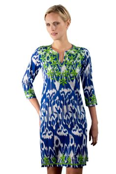 Cotton Ikat Tunic Dress