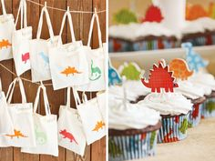 {Rawr Your World} Dinosaur Birthday Party // Hostess with the Mostess®----party favor bags