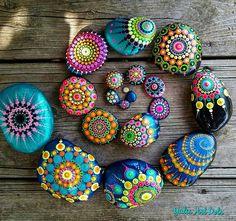 #YuliaArtDots #paintedstones #mix #spiral #pebbles #rocks #stones #dots #mandala #etsy #dots #dotart #dotting #spirit #Zen #nature #myart #sunshine