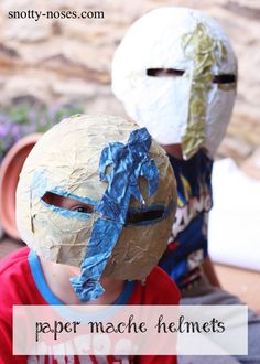 How to make Paper Mache Helmets. A really easy activity to nurture your child's creativity. A great idea for kids who love crafts or a diy project!