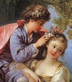 Boucher:The Four Seasons - Spring 1755 Vintage Couples, Classical Art, Portrait Art, Erotic Art, Chinese Art, Beautiful Paintings, Four Seasons, Oeuvre D'art, Female Art
