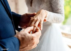 Groom Put on Wedding Ring Bride Hand Stock Photo , Wedding Reception Chairs, Wedding Ceremony, Wedding Rings, Wedding Groom, Wedding Couples, Wedding Day, Hand With Ring, Wedding Cake Cutting, Groom Ring
