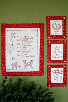 Christmas Prayer RedWork  http://www.birdbraindesigns.net/products/350-christmas-prayer-redwork.aspx