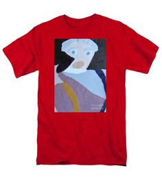 Patrick Francis Red T-Shirt featuring the painting Portrait Of A Lady 2014 by Patrick Francis