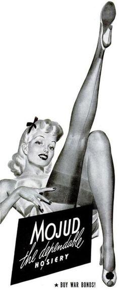 Mojud hosiery advertisement, 1943