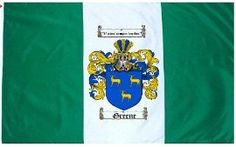 $49.99 Greene Family Crest / Coat of Arms Flag. Large 3 ft. x 5 ft. polyester flags.