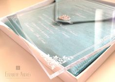 Elizabeth Andrés Designs: Wedding Stationery | Hassan and Fatima's Luxury Wedding Invitation