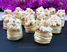 Mini vol au vent au saumon, ciboulette et mayonnaise / Une cuisine pour Voozenoo