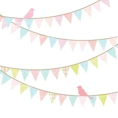 birthday banner clip art commercial and personal use set 1