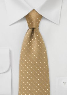 Punkte-Krawatte beige