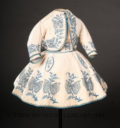 Girl's embroidered ensemble, c. 1865