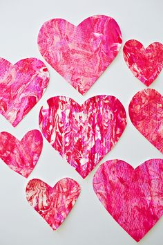 hello, Wonderful - VALENTINE SHAVING CREAM HEART ART WITH KIDS