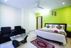 For a delightful stay book OYO 494 Hotel Euro Park in Hyderabad at ₹ ❆ AC Rooms, ✓ Free Wifi, 🍴 Complimentary Breakfast. Free Wifi, Hyderabad, Bed, Hotels, Rooms, Furniture, Home Decor, Travel, Bedrooms