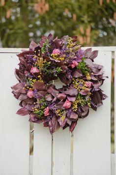 Purple and Pink Nora Wreath purple spring by TheBlaithinBlairShop