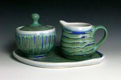 cream and sugar on tray - Marian Baker