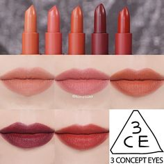 Mood Recipe Lipstick Swatches L-R: 114 Rows, 115 Muss, 116 Inked Heart, 117 Chicful, 909 Smoked Rose Lipstick Swatches, Lipstick Colors, Lip Colors, Lipsticks, Eye Makeup Art, Makeup Lipstick, Beauty Makeup, Lipstick Tricks, Drugstore Beauty