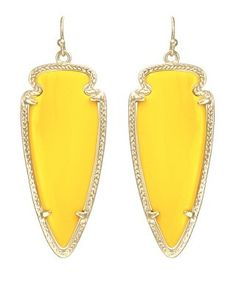 Skylar Earrings in Yellow - Kendra Scott Jewelry. #MardiGras