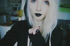 Blonde and Black Hair.