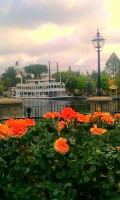 The Mark Twain earlier this morning #Disneyland