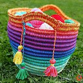 Ravelry: Ropey Rainbow Basket pattern by The Little Bee ~ Alia Bland