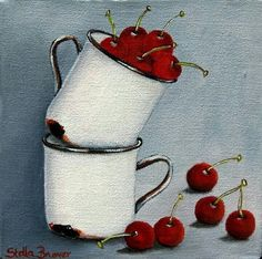 Art by Stella Bruwer Fruit Painting, Fabric Painting, Stella Art, Still Life Oil Painting, Abstract Canvas Art, Still Life Art, Fruit Art, Flower Art, Watercolor Art