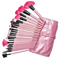 Professional 24pcs Makeup Brush Set Tools Make-up Toiletry Kit Wool Brand Make up Brush Set Case ** Details can be found by clicking on the image.