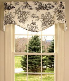 toile valances | Lenoxdale Toile Curtains and Toile Bedding - Country Curtains®