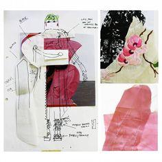 B.A. Programme 2nd Year 2016 Work by Larissa Joan Besch @larissabesch #bachelor #creation #design #handmade #pattern #pink #esmod #esmodberlin  #illustration #drawing #fashion #free #lines