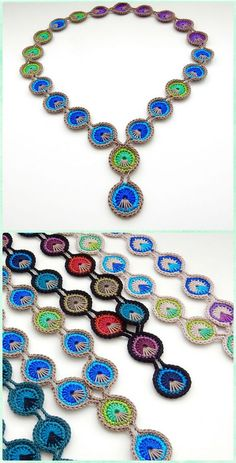 Crochet Peacock Feather Necklace Free Pattern-10 Crochet Peacock Projects Free Patterns