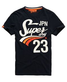 Shop Superdry Mens Slope T-shirt in Eclipse Navy. Buy now with free delivery from the Official Superdry Store. New T Shirt Design, Shirt Print Design, Shirt Designs, Superdry Tshirts, Superdry Mens, Polo T Shirts, Boys Shirts, T Shirts For Women, Superdry Style