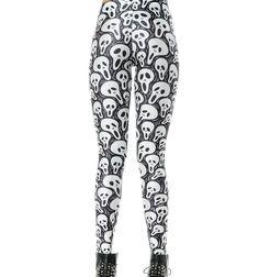 The Scream Skull Black and White Gothic Graphic Print Tattoo Bones Leggings Cute Plus Size Clothes, Geek Fashion, Fashion Trends, Print Tattoos, Scream, Graphic Prints, Plus Size Women, Fashion Forward, Bones
