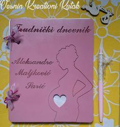 Dnevnik za trudnice - Obradujte sebe ili neku buduću mamu! 🎁Zapišite sve informacije o razvoju bebe i promenama tela tokom svakog meseca trudnoće, lepite sličice, zabeležite svoje doživljaje, misli i osećanja... Dimenzije: 20*16cm. 🐣👶👼💞💝🍼🍬🍭 #vesninkutak #dnevnikzatrudnice #mojtrudnickidnevnik #dnevnik #poklonizatrudnice #trudnice #trudnoca #gifts #pokloni #woodengifts #personalizedgifts #babygirl #babybump #pregnant #pregnancy #babygirl #babies #vremejezabebe #babyloading #babylove