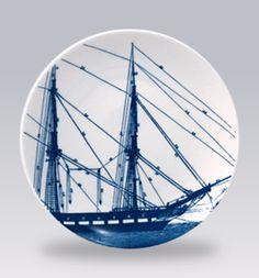 Rigging Blue Canape Plates by Caskata | Gracious Style  http://www.graciousstyle.com/shop/rigging-blue-canapes/caskata