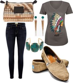 """Modern Native American"" by dombledorauc on Polyvore ... this is so my style!"