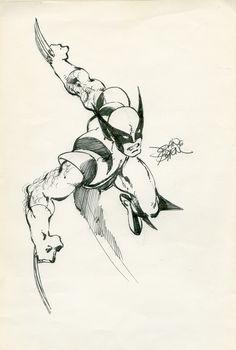 John Byrne WOLVERINE sketch