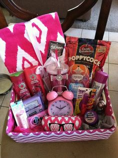Family movie night gift basket this is great weve given this affordable gift baskets are a great way to showcase your handmade gifts so why not try a few of the tutorials below and create your very own christmas negle Choice Image