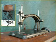 EARLY~ ANTIQUE AMERICAN NO.1 TREADLE SEWING MACHINE WORKING WITH ACCESSORIES!!! in Antiques, Sewing (Pre-1930), Sewing Machines | eBay