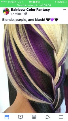 Hair Color Blonde With Lowlights Summer Red Trendy Ideas Haarfarbe Blond Mit Lowlights Som Hair Color Purple, Cool Hair Color, Burgundy Color, Hair Colours, Blonde And Burgandy Hair, Deep Purple Hair, Red Hair, Love Hair, Gorgeous Hair