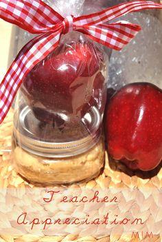 fall or teacher gift. apple w/ caramel cream cheese dip.