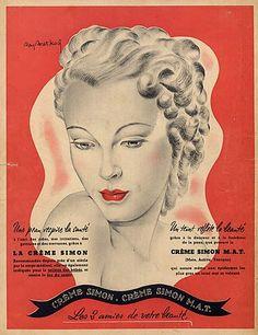 Crème Simon (Cosmetics) 1940 Raymond Bret-Koch